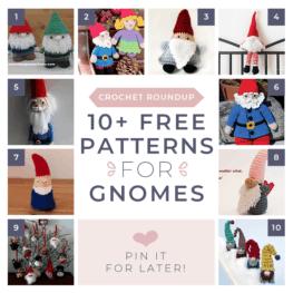 Free Christmas Gnome Crochet Patterns FB