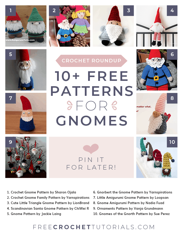 Free Christmas Gnome Crochet Patterns