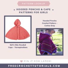 Hooded Poncho and Cape Patterns for Girls