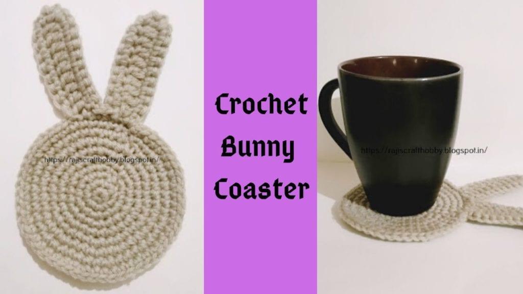 Crochet Bunny Coaster