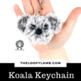 Free Crochet Koala Keychain Pattern and Tutorial
