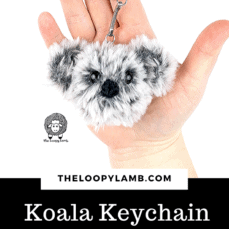 Free Crochet Koala Keychain Pattern and Tutorial