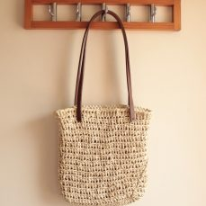 Perfect Oval Raffia Bag Tutorial