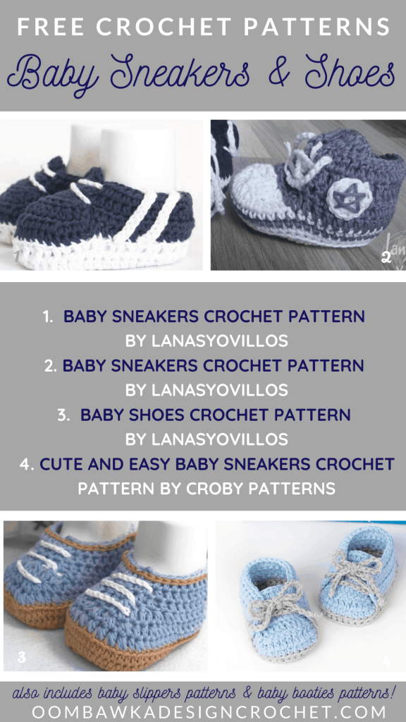 Free-Baby-Sneakers-Crochet-Patterns-Roundup-by-Oombawka-Design-Crochet