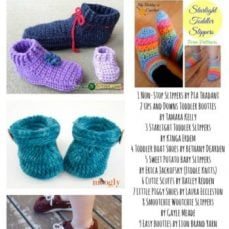 11 Free Crochet Patterns for Toddler Slippers - freecrochettutorials.com