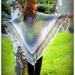 Amazing Grace Angel Wing Shawl by Elena Hunt