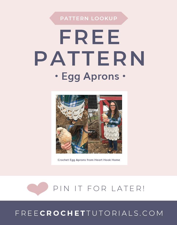 Pattern Lookup Crochet Egg Aprons from Heart Hook Home as seen on Free Crochet Tutorials