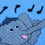 Learn how to use backstitch to embroider on crochet