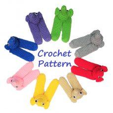 Crochet Elephant Finger Puppets