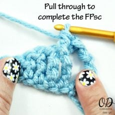 Front Post Single Crochet Stitch Tutorial