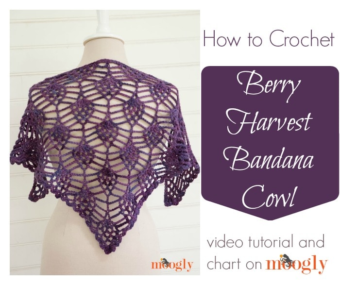 Berry Harvest Bandana Cowl Tutorial