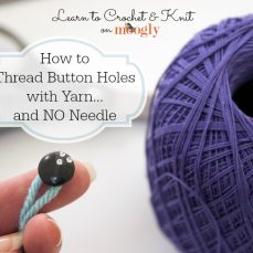 Thread Small Buttons With Yarn and Without Needles Tutorial