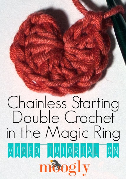 Chainless Starting Double Crochet In The Magic Ring Tutorial Free