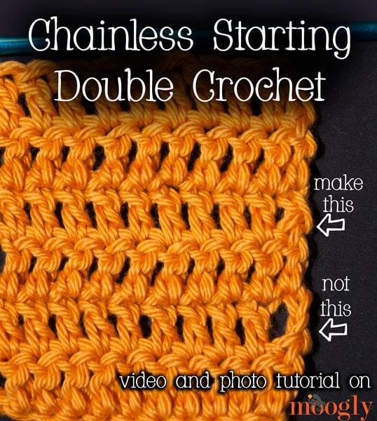 Chainless Starting Double Crochet Tutorial