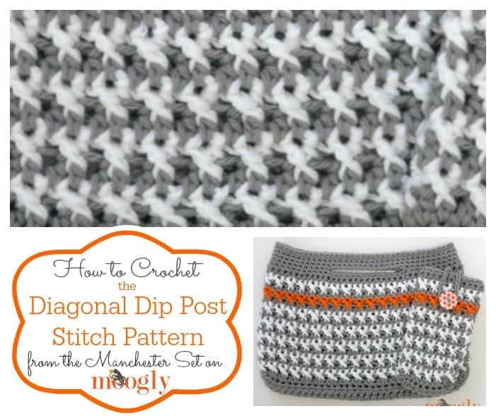 Diagonal Dip Post Stitch Tutorial