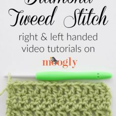 Diamond Tweed Stitch Tutorial