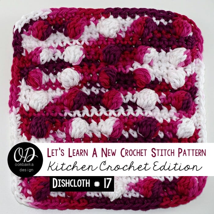 Learn how crochet the cluster (cl) stitch pattern with this photo tutorial. Instructions are also included to make a 6