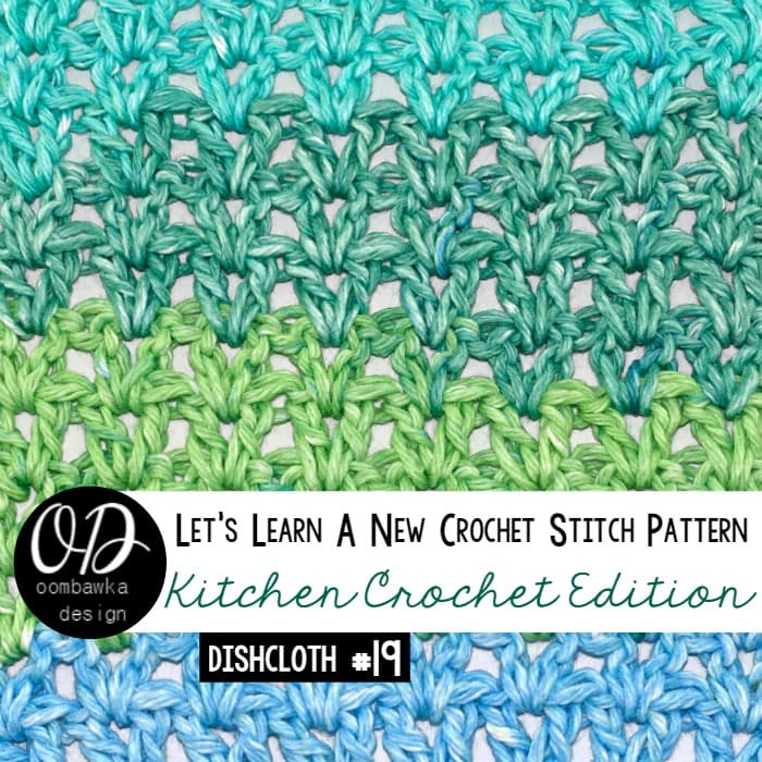 Learn how crochet the simple v-stitch (V-St) pattern with this photo tutorial. Instructions are also included to make a 6