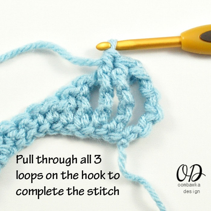 Learn how to crochet the front post half double crochet (FPhdc) stitch with this photo tutorial.