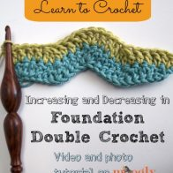 Increasing and Decreasing in Foundation Double Crochet Tutorial
