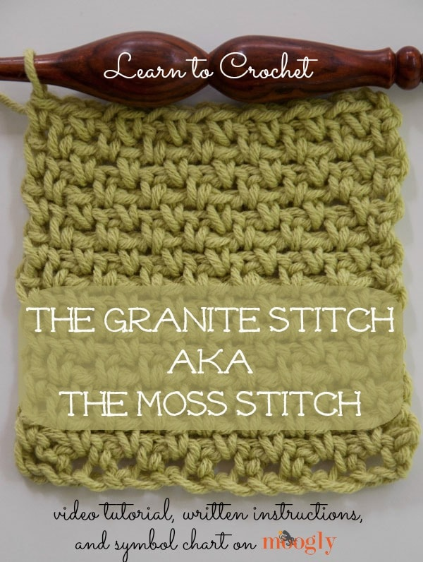 Granite Stitch ( Moss Stitch ) Tutorial