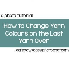 Change Colors on the Last Yarn Over of a Stitch Tutorial