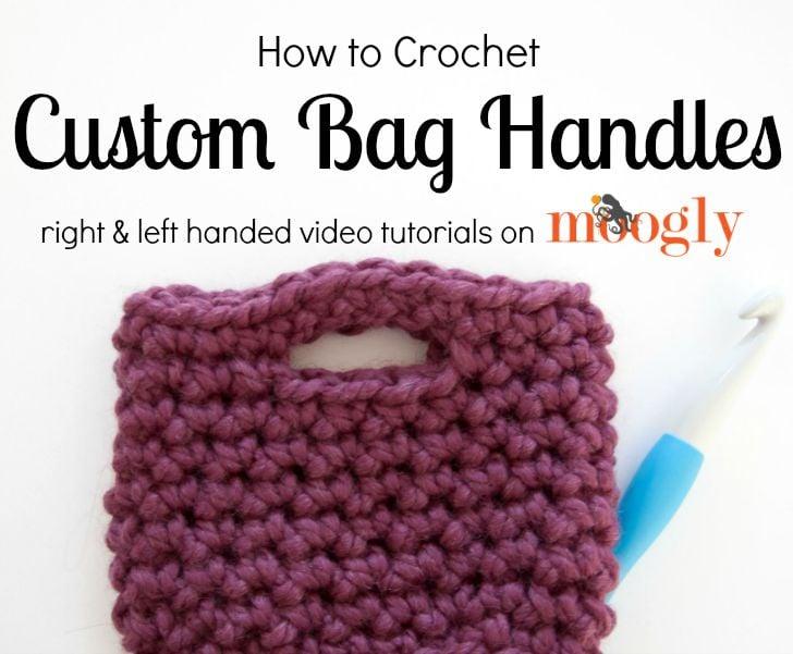 Knitting Instructions For Beginners Left Handed : Crochet bag handles tutorial free tutorials