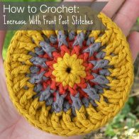 Increase with Front Post Stitches Tutorial