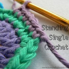 Standing Single Crochet Tutorial