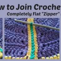 Flat Zipper Joining Method for Granny Squares Tutorial