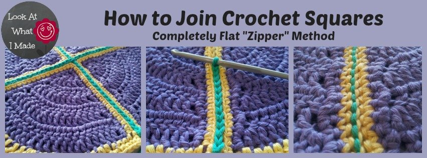 Flat Zipper Joining Method For Granny Squares Tutorial Free