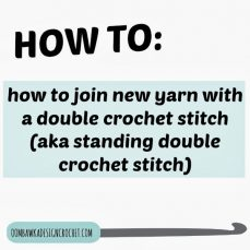 Double Crochet Stitch Join Tutorial