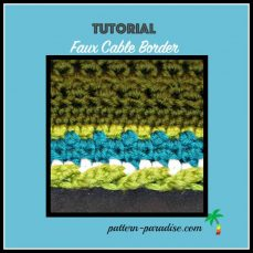 Faux Cable Border Tutorial