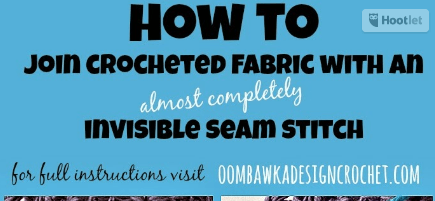 Learn how to create an invisible seam stitch with this photo tutorial. Seaming is considered a finishing technique.