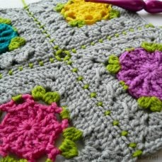 Joining Crochet Squares (sc 1, ch 1, sk 1)…