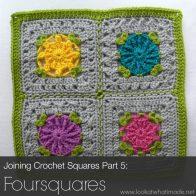 Joining Crochet Squares (Foursquares) Tutorial