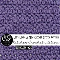 Herringbone Double Crochet Stitch Tutorial