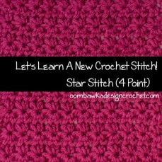 4-Pointed Star (Marguerite) Stitch Tutorial