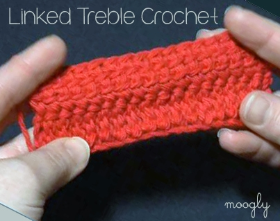 Linked Treble Crochet Stitch Tutorial
