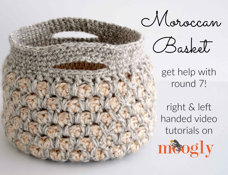 Moroccan Basket Tutorial Free Crochet Tutorials