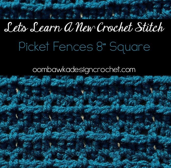 Learn how crochet thePicket Fences Crochet Stitch Pattern with this photo tutorial. Instructions are provided to crochet an 8