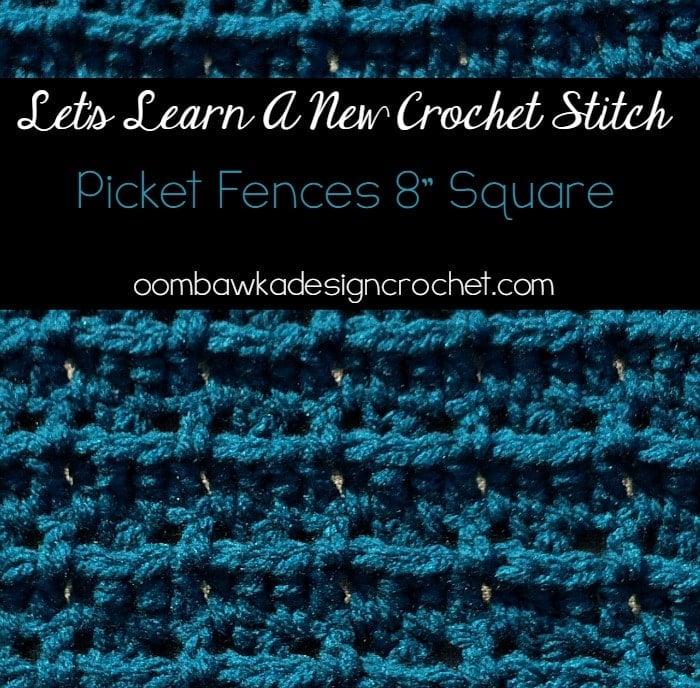 Picket Fences Stitch Pattern Tutorial
