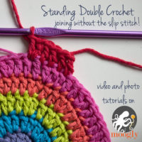 Standing Double Crochet Stitch Tutorial