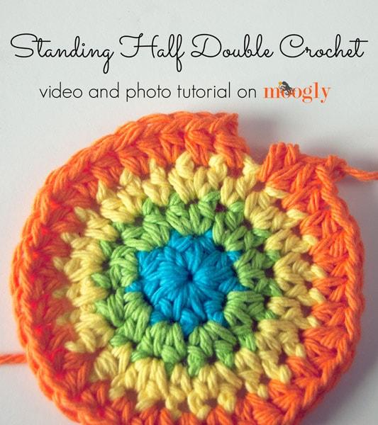 Standing Half Double Crochet Stitch Tutorial