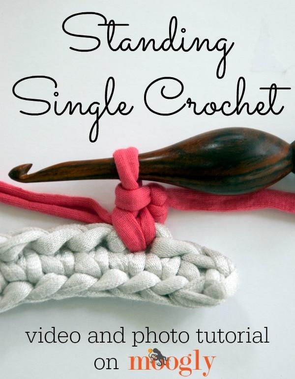Standing Single Crochet Stitch Tutorial