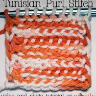 Tunisian Purl Stitch Tutorial
