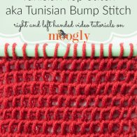 Tunisian Top Stitch Tutorial