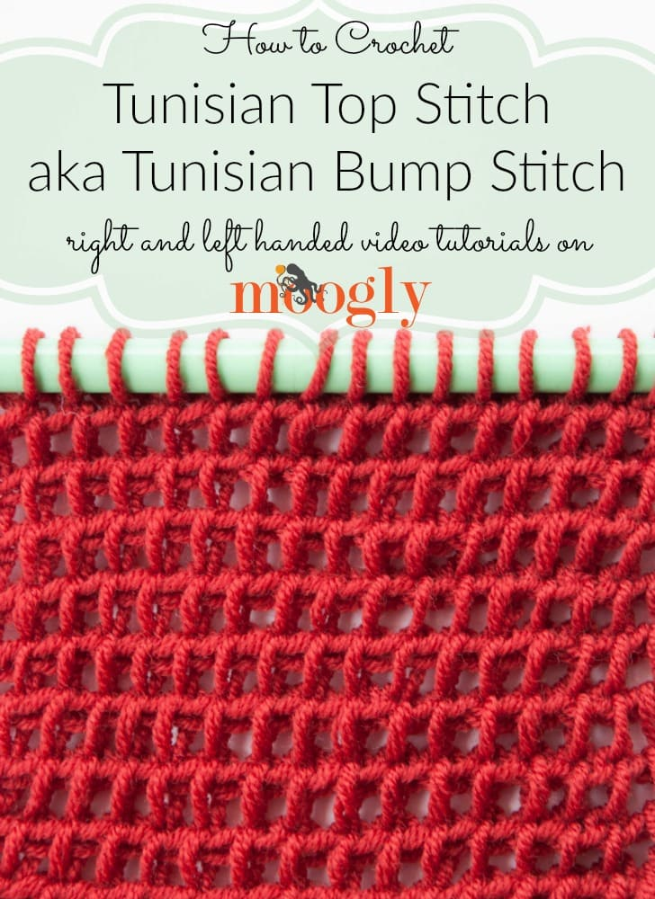 Learn how to crochet for free! Free Crochet Tutorials has hundreds of photo and video tutorials. This tutorial teaches you Tunisian Top Stitch.