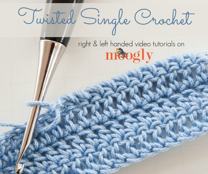 Twisted Single Crochet Tutorial Free Crochet Tutorials