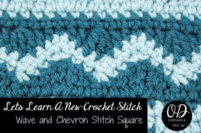 Learn how crochet the wave and chevron stitchpattern with this photo tutorial. Instructions are provided to crochet an 8
